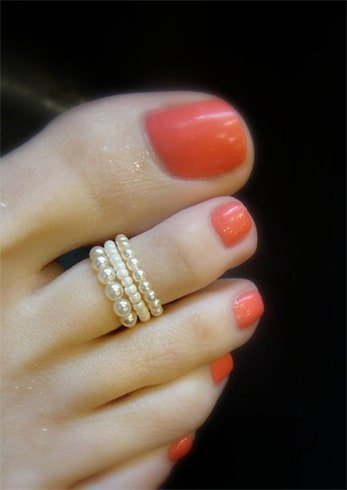 Pearl Toe Rings