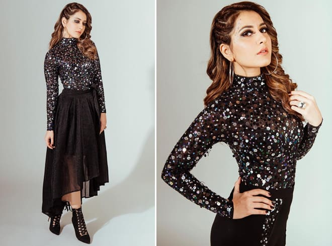 Raashi Khanna at Gaana Mirchi Music Awards 2018