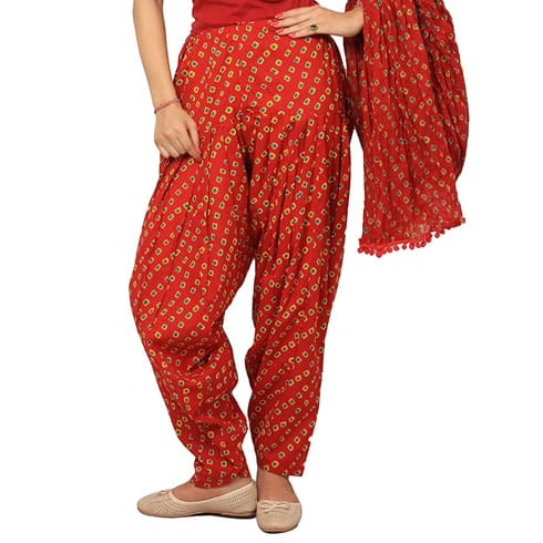 Red Bandhej Salwar