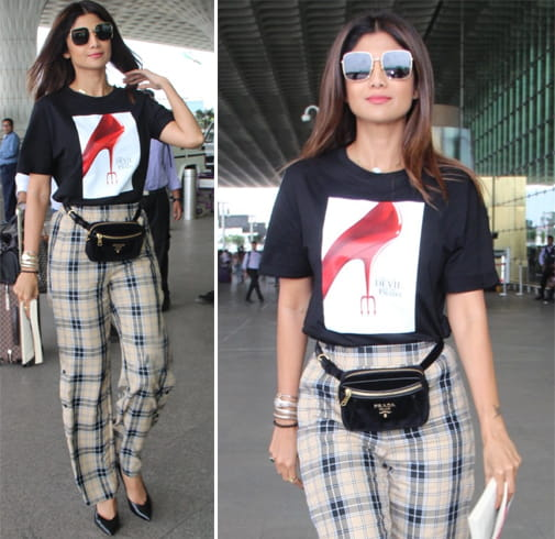 Shilpa Shetty Snapped Airport