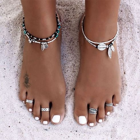 Silver Toe Ring Designs