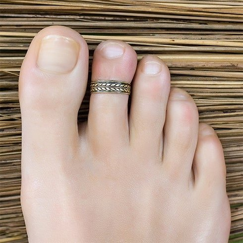 Simple Band Toe Rings