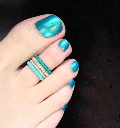 Small Bead Toe Ring Designs