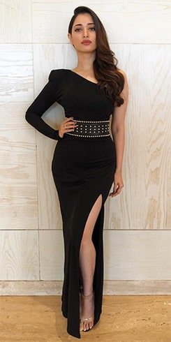 Tamannaah Bhatia Black Dress