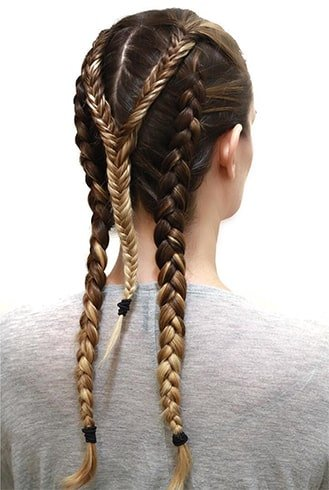 Two Braids With Y Fishtail