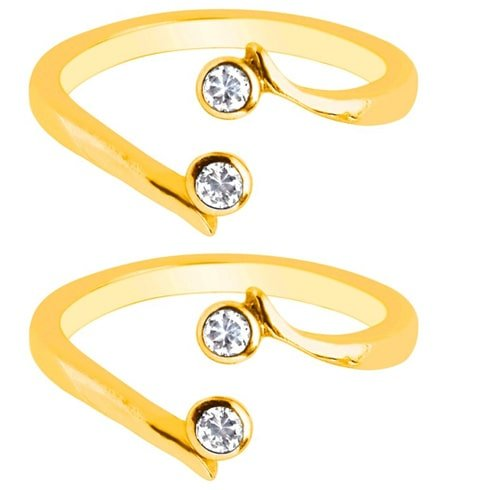 Yellow Gold Crossover Toe Rings