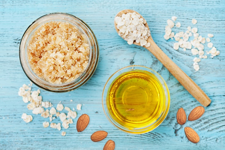 Almond Oil and Oatmeal Face Mask