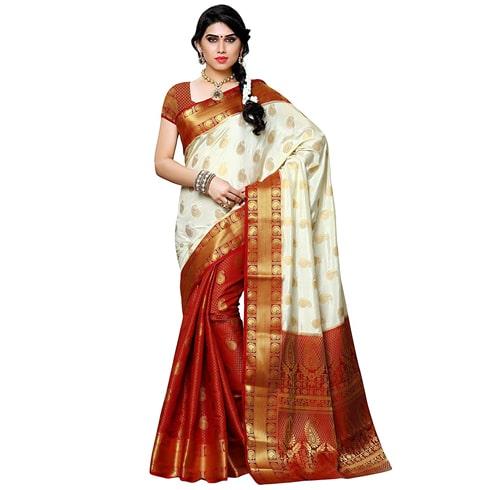 Bengali Garad Silk Saree