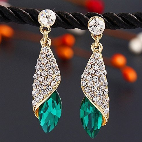 Emerald Crystal Fancy Earrings
