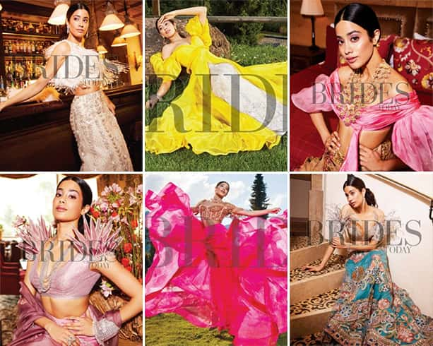 Janhvi Kapoor on Brides Today Photoshoot