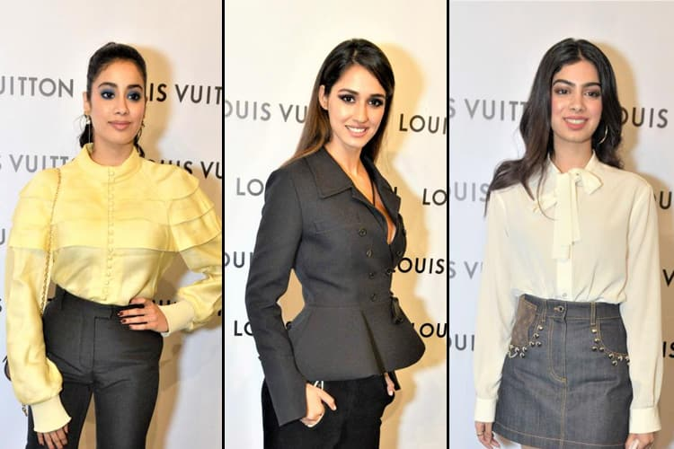 Khushi Janhvi Kapoor And Disha Patani Louis Vuitton Store Launch