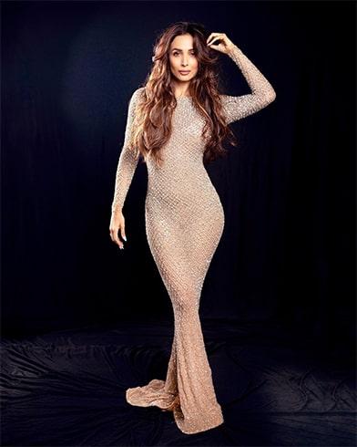 Malaika Arora Yousef Aljasmi bodycon gown