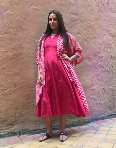 Neha Dhupia Ancestry Outfit