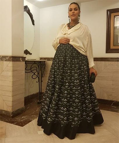 Neha Dhupia at Yuvika and Prince Narula Wedding