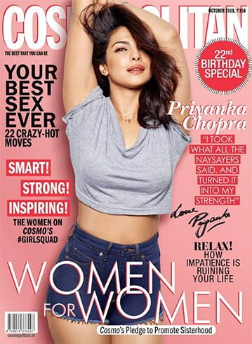 Priyanka Chopra on Cosmopolitan October 2018