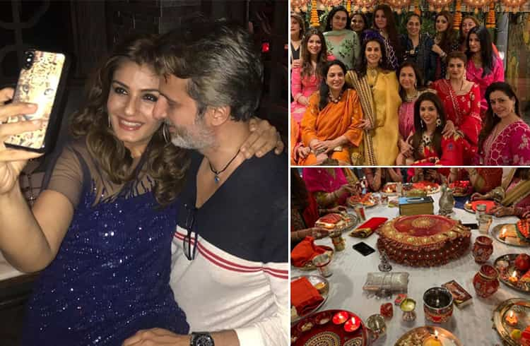 Raveena Tandon Celebrated Karwa Chauth