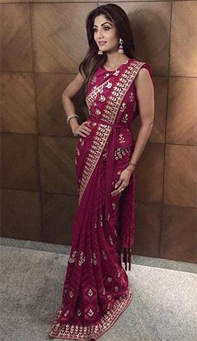 Shilpa Shetty in Anita Dongre Sari
