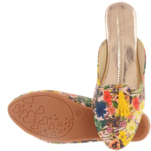 Chokhi Collection Printed Designer Flat Sandal for Women