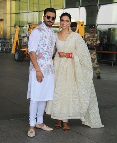Deepika Padukone Ranveer Singh at Airport