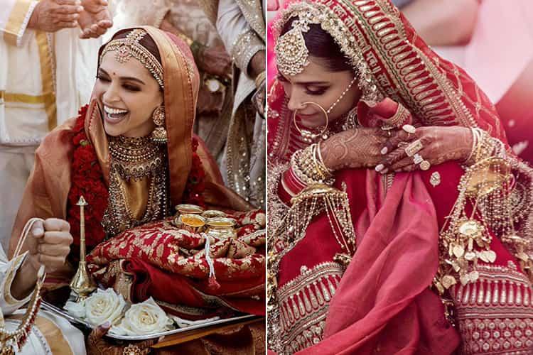 Deepika Padukone Bridal Wear Sabyasachi