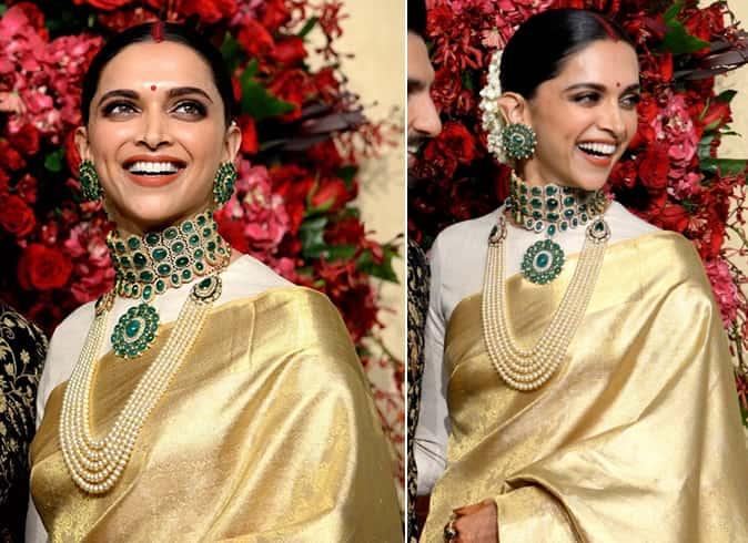 Deepika Padukone in Sabyasachi jewelry
