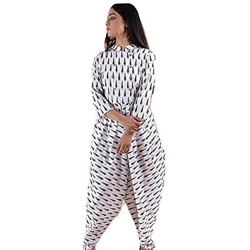Digital Black and White Jumpsuit