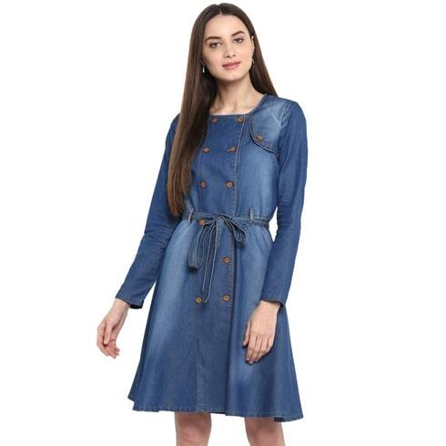 Full Sleeve Denim Dress
