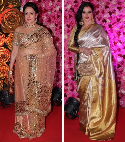 Hema Malini and Rekha At Lux Golden Rose Awards 2018