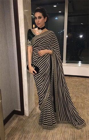 Karisma Kapoor in Sabyasachi saree