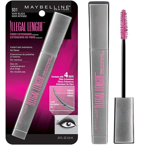 Maybelline New York Illegal Length Fiber Extensions Washable Mascara
