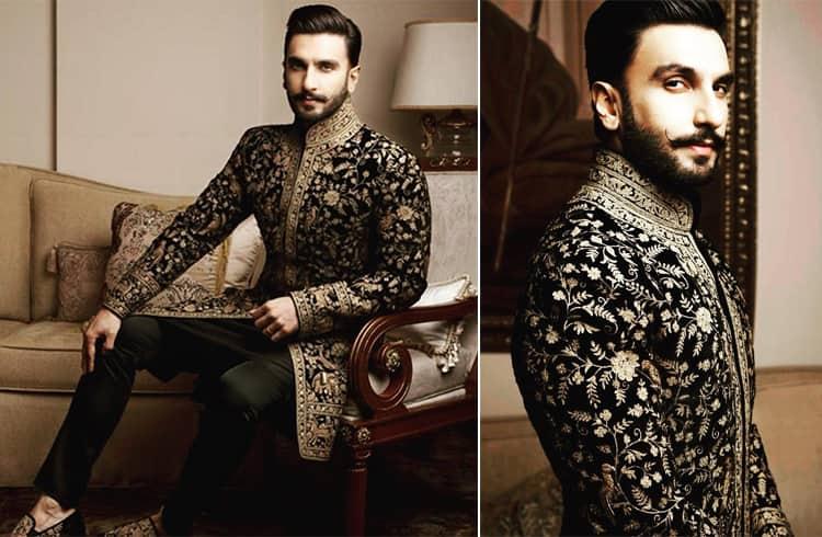 Ranveer Singh Rohit Bal sherwani suit