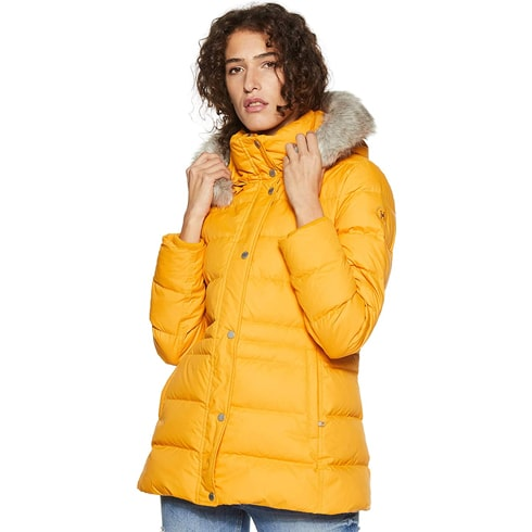 Tommy Hilfiger Faux Fur Yellow Jacket