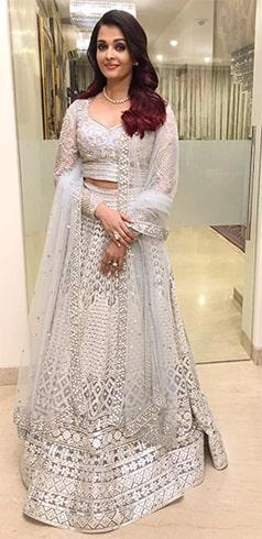 Aishwarya Rai at Deepveer Reception