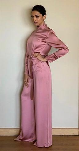 Deepika Padukone Pink Jumpsuit