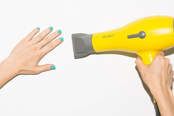Dry Nail Polish With Blower