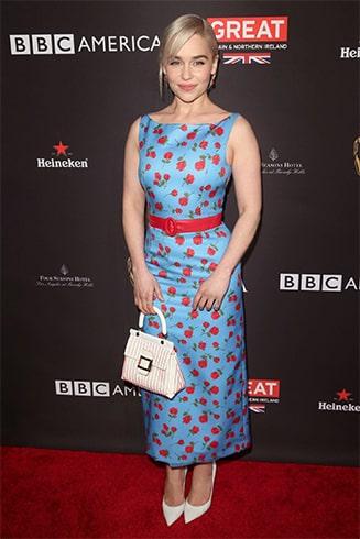 Emilia Clarke in Floral Dress