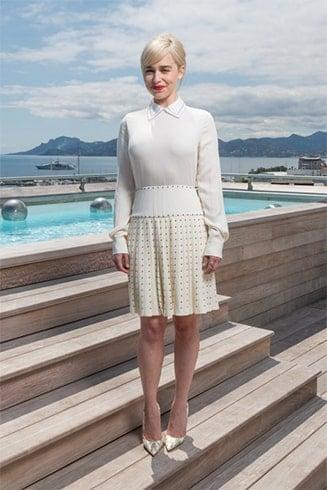 Emilia Clarke Emilia Clarke in White Dress