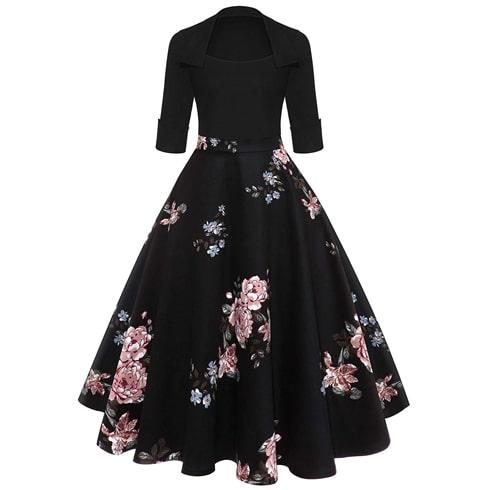 Floral Vintage Midi Dress