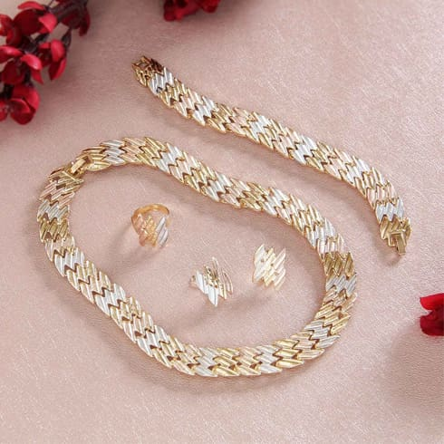 Gold Copper Silver Plated Fashion Jewellery Set
