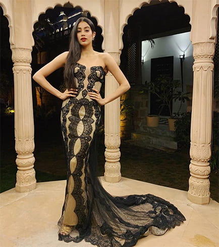 Janhvi Kapoor at Isha Ambani Pre Wedding Celebrations