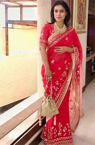 Kajol in Devnaagri sari