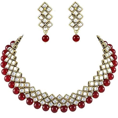 Kundan and Red Beads Choker