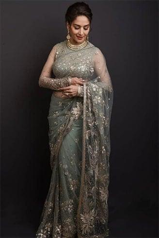 Madhuri Dixit at Deepveer Reception