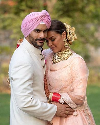 Neha Dhupia and Angad Bedi Wedding