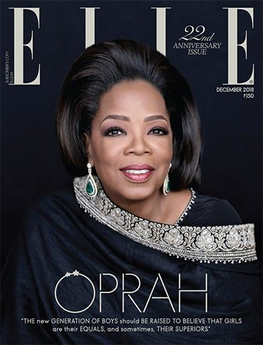 Oprah Winfrey on Elle India December 2018
