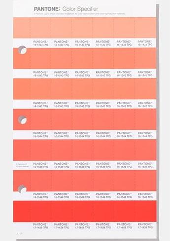 Pantone Living Coral Color Specifier