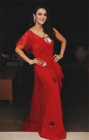Preity Zinta at Deepveer Reception