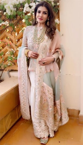 Raveena Tandon at Isha Ambani Pre Wedding Celebrations