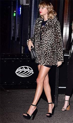 Taylor Swift Animal Printed Coat