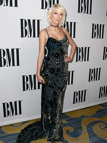 Taylor Swift Monique Lhullier velvet gown